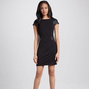 Erin Fetherston Faux-Leather-Panel Ponte Dress